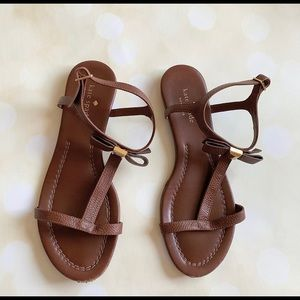 Kate spade brown leather sandals